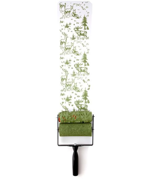Rodillo texturizado verde