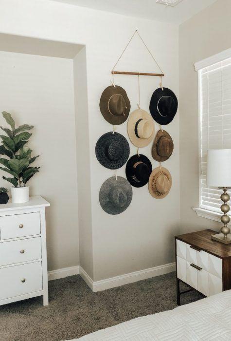 DIY para colgar sobreros de la pared