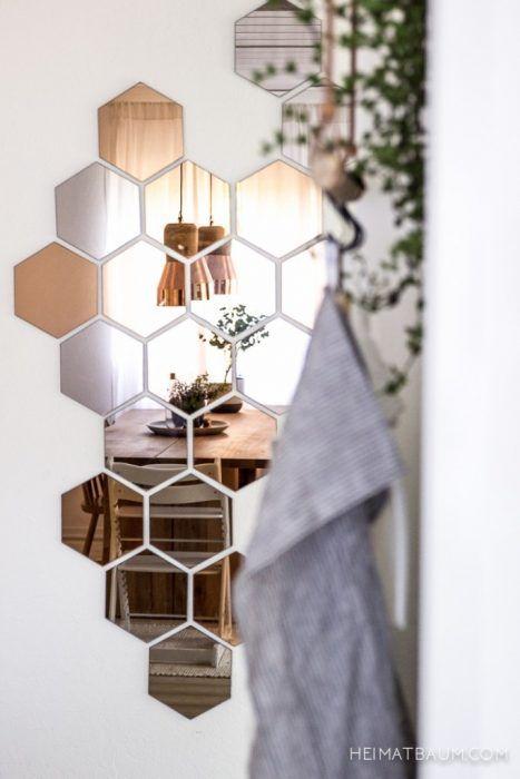 Espejos de tipo colmena para la pared