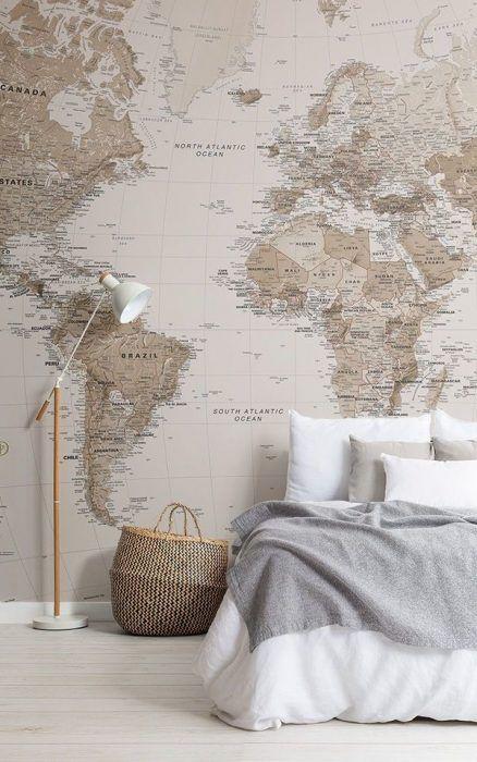 Papel pintado mapamundi