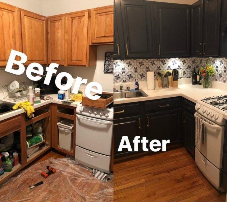 Antes y después de reformar la cocina sin obras