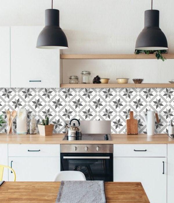 Azulejos adhesivos para paredes de cocina