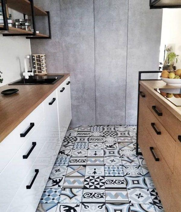 Bonito suelo para cocina