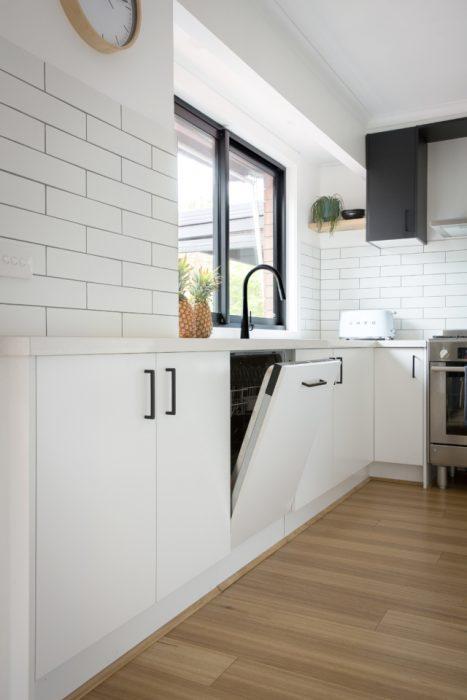 Cocina con lavavajillas integrable