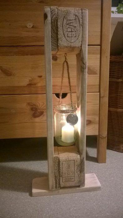 Lámpara de pie con vela