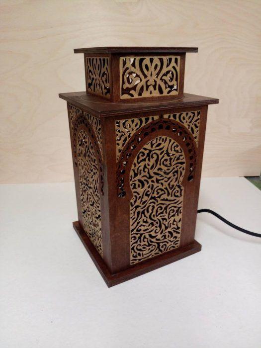 Lámpara en forma de caja