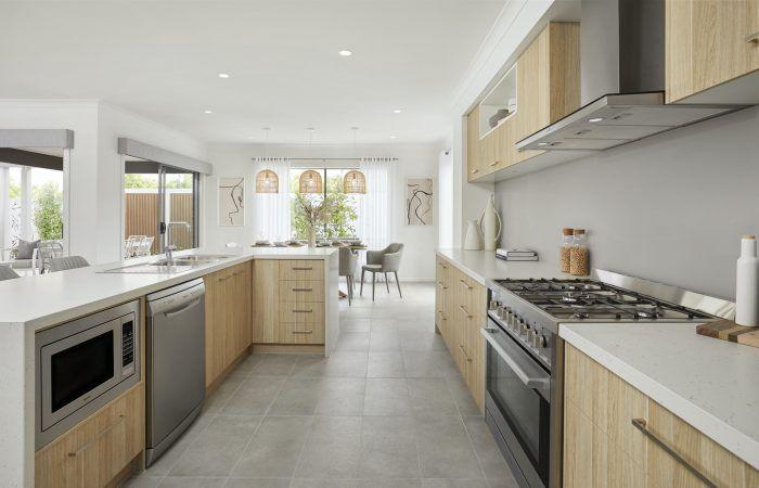 Cocina con muebles personalizados