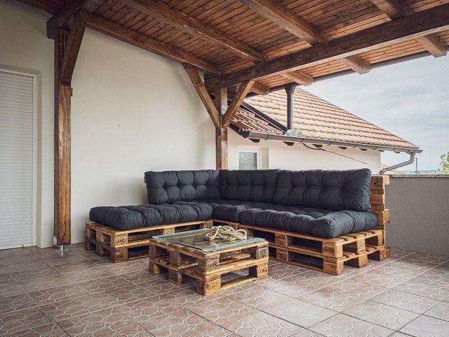 hacer un sofá con palets