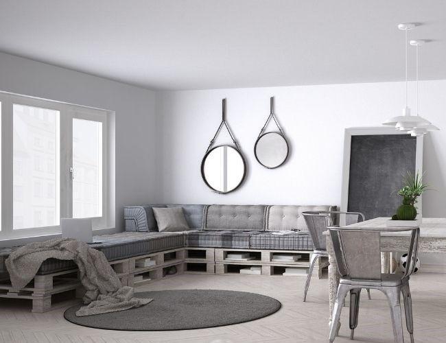 Sofá de salón con palets