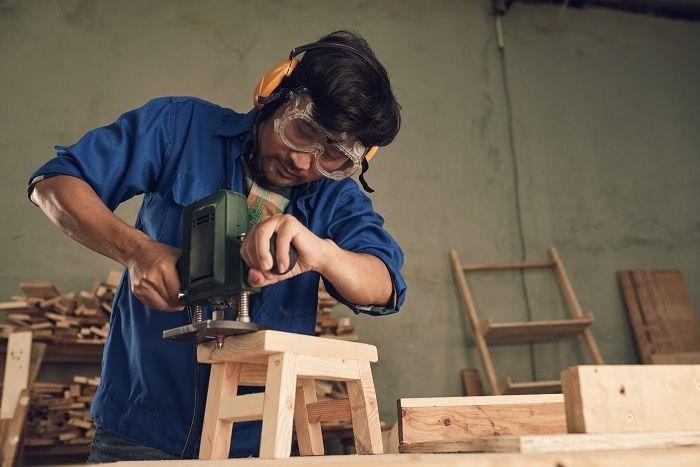 Cómo hacer un taburete con una sierra de calar