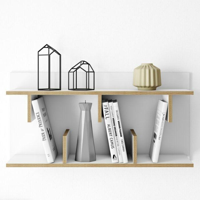 estantes de madera modernos