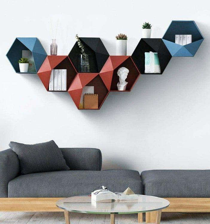 estantes geometricos