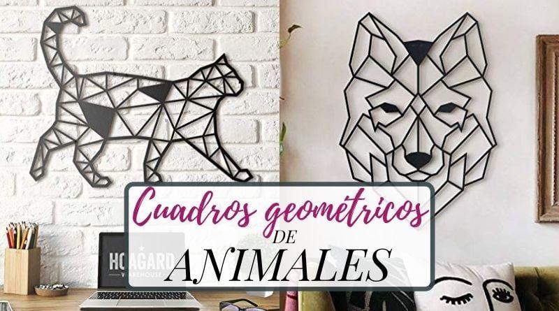 Cuadros geométricos de animales